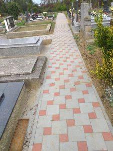 Rekonstrukcija staza na mjesnom groblju