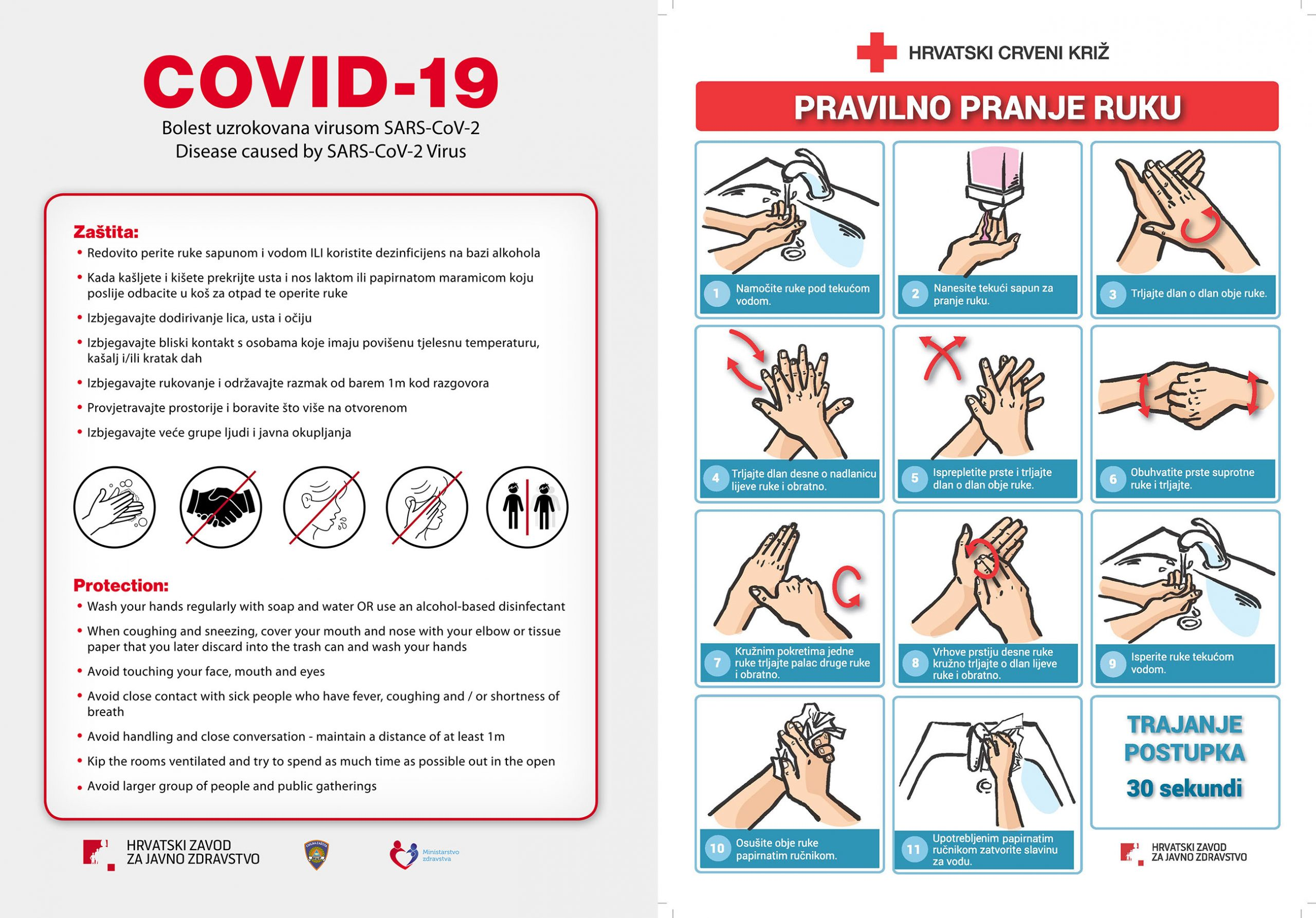 Mjere zaštite od zaraze COVID-19+ (coronavirus)