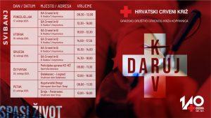 Akcije dobrovoljnog darivanja krvi počinju u ponedjeljak, 17. svibnja